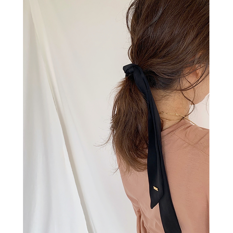 RIBBON HAIR TIE[BLACK] COUDRE