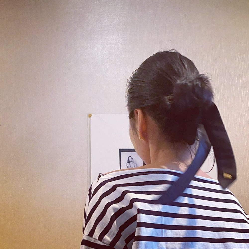 RIBBON HAIR TIE[GREIGE] COUDRE
