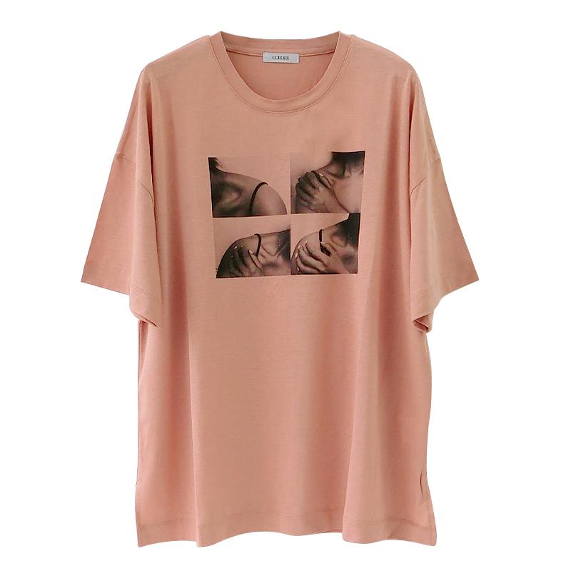 フォトTシャツ[SKIN PINK] COUDRE