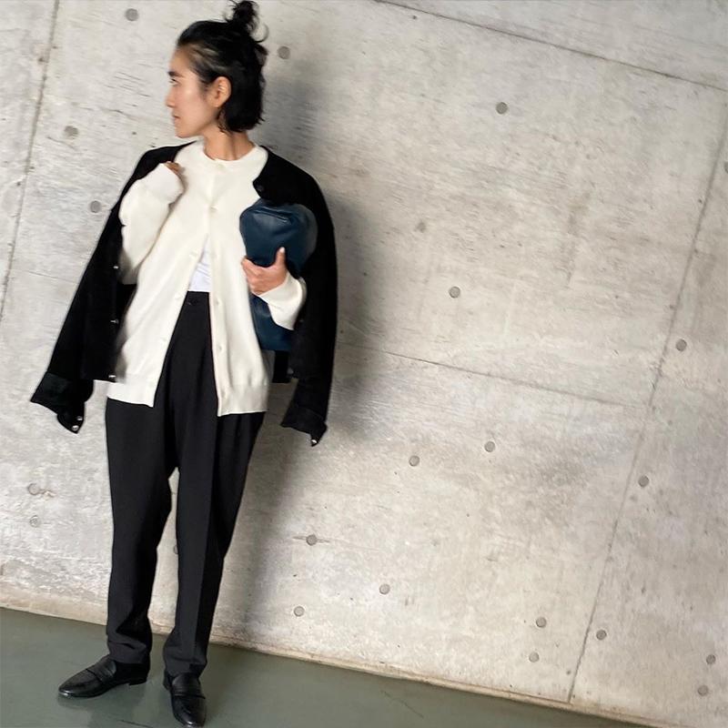 金子綾×Dhyana. ペニーローファー BLK Dhyana.〈Oggi 12月号〉