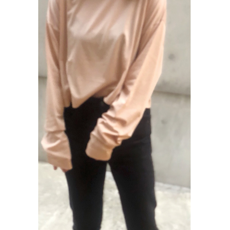 nuance color LONG Tshirts[BROWN] COUDRE