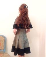 ロココブラックドレス&ケープ