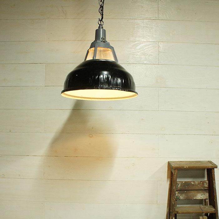 L021 / インダストリアル シーリングランプ ブラックグレー