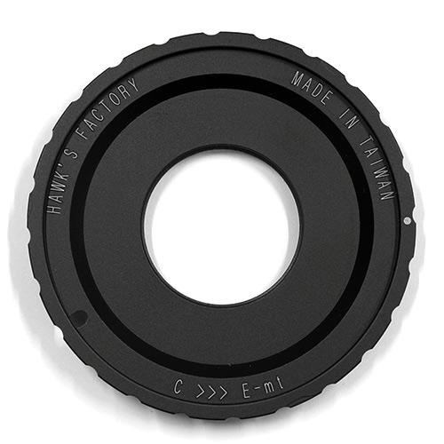 HAWKSFACTORY C TO E マウント(ボディ側:Sony E/レンズ側:Cマウント) ブラック