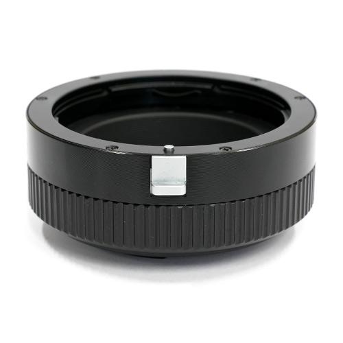 HAWKSFACTORY CANON EF TO M4/3 HELICOID マウント(ボディ側:Micro Four Thirds/レンズ側:Canon EF)補助ヘリコイド付き ブラック