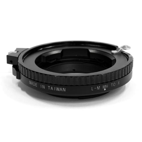 HAWKSFACTORY LEICA M TO FUJI/X HELICOID マウント(ボディ側:Fujifilm X/レンズ側:Leica M)補助ヘリコイド付き・ノブ付き ブラック