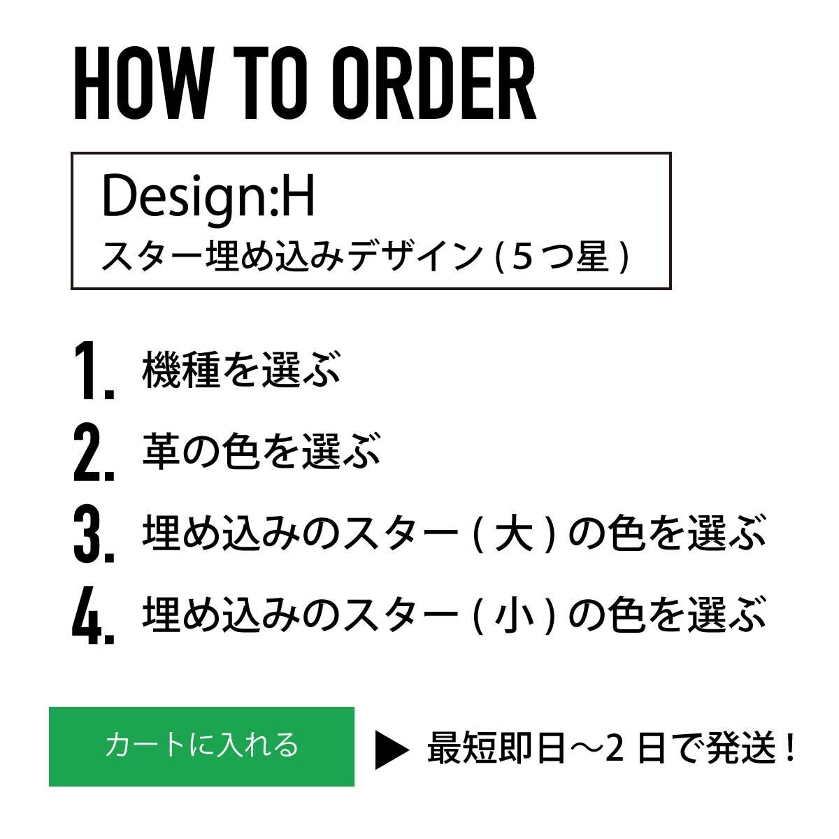 iPhoneOpenCase:   DesignH:マーク埋込み/スターズ