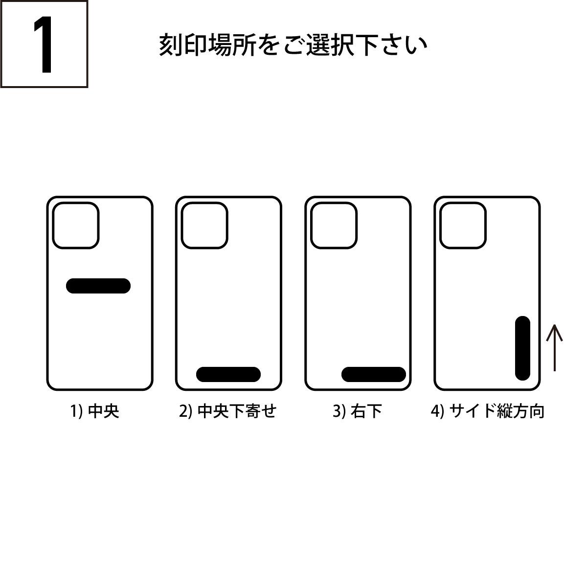 iPhoneOpenCase:    Option1:名入れ刻印追加
