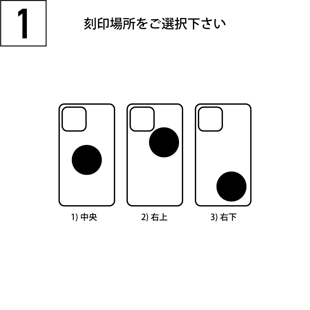 iPhoneOpenCase:    Option2:スマイル(大)刻印追加