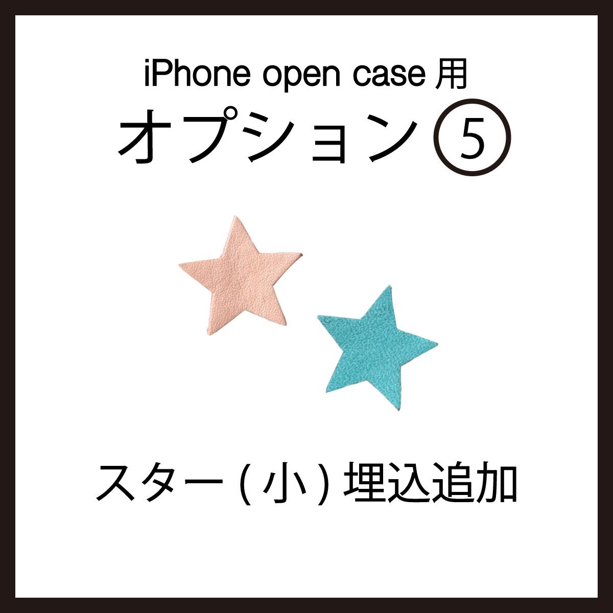 iPhoneOpenCase:    Option5:スター(小)埋込追加