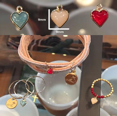 モチーフチャーム (star, heart, smile, crown, feather, cross): Kariet