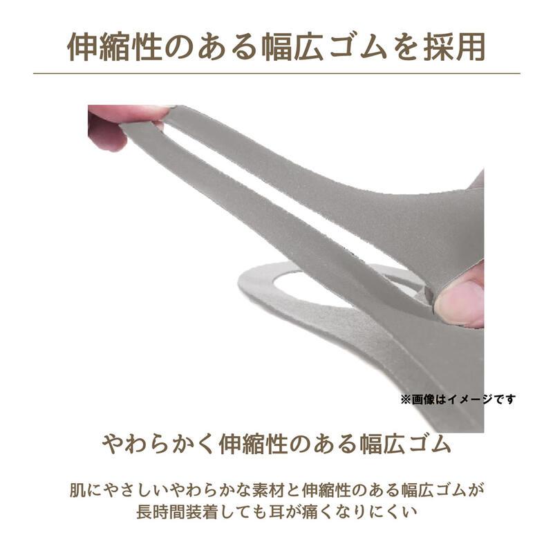 洗えるウレタンマスク 3Dタイプ 子ども用 グレージュ(20枚入り)
