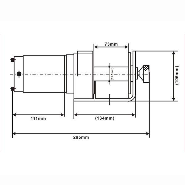 電動ウインチ 900kg 12V [32786]