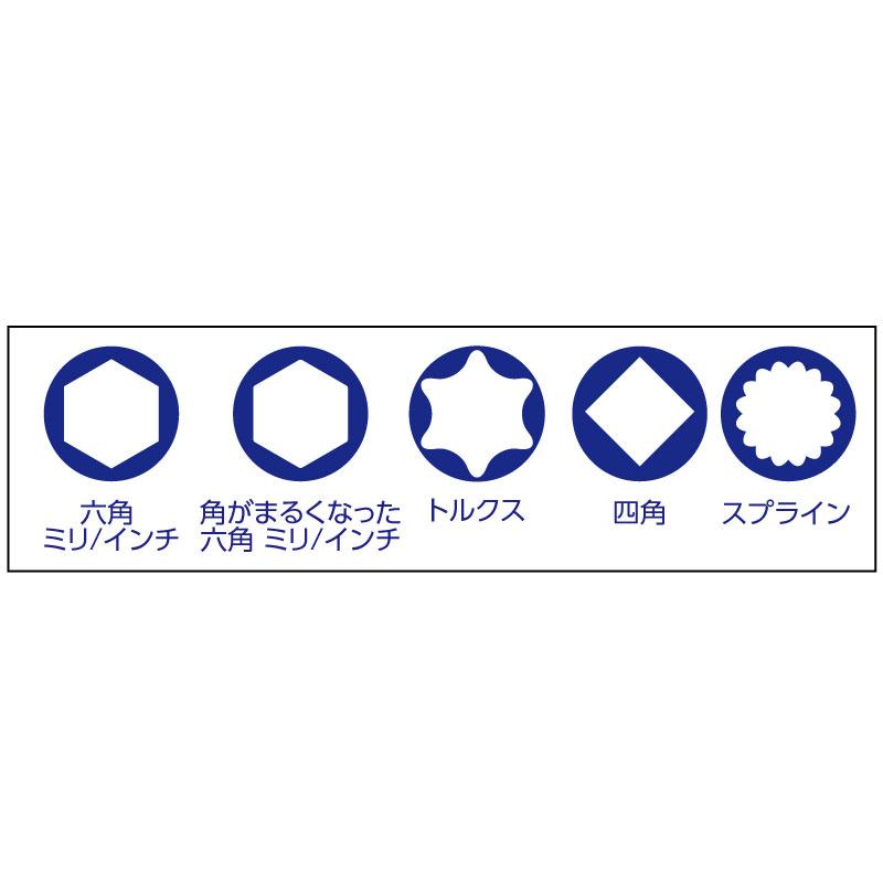 19pcスプラインソケットレンチセット 万能ナットソケット 31603