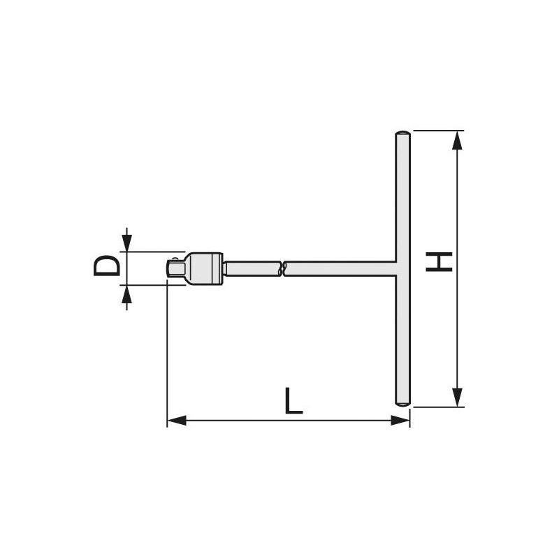 【TONE】T型ミッションハンドルTMH-48 (12.7mm) [34102]