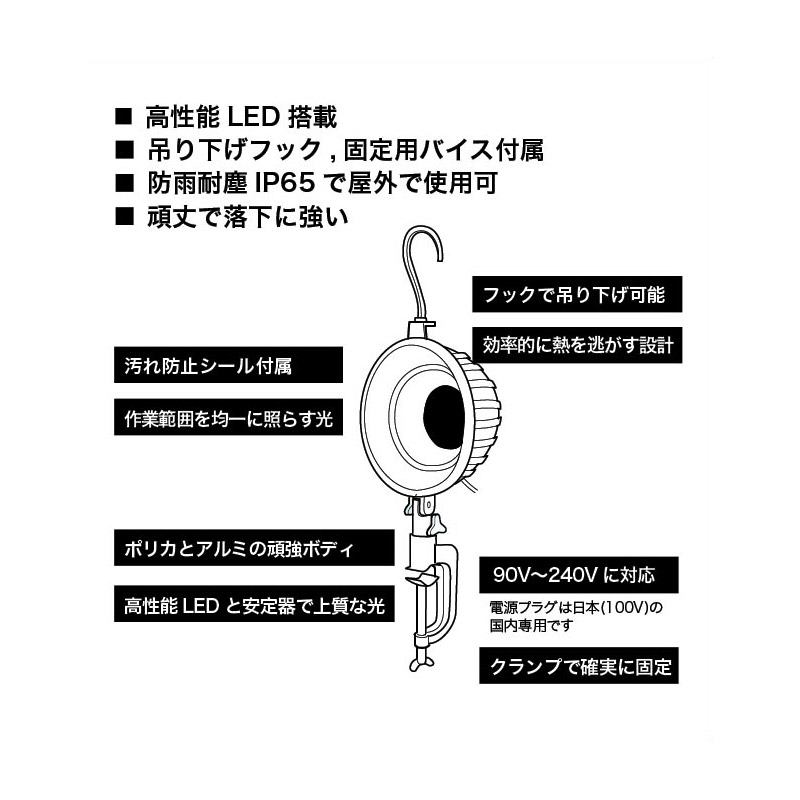 サンウェイ LEDマルチライトプロ電球色 SW-GL-030EL [14768]