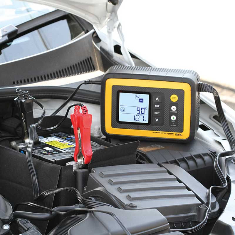 <期間限定Sale>【大橋産業】12V 12A バッテリー診断機能付 全自動充電器 2703