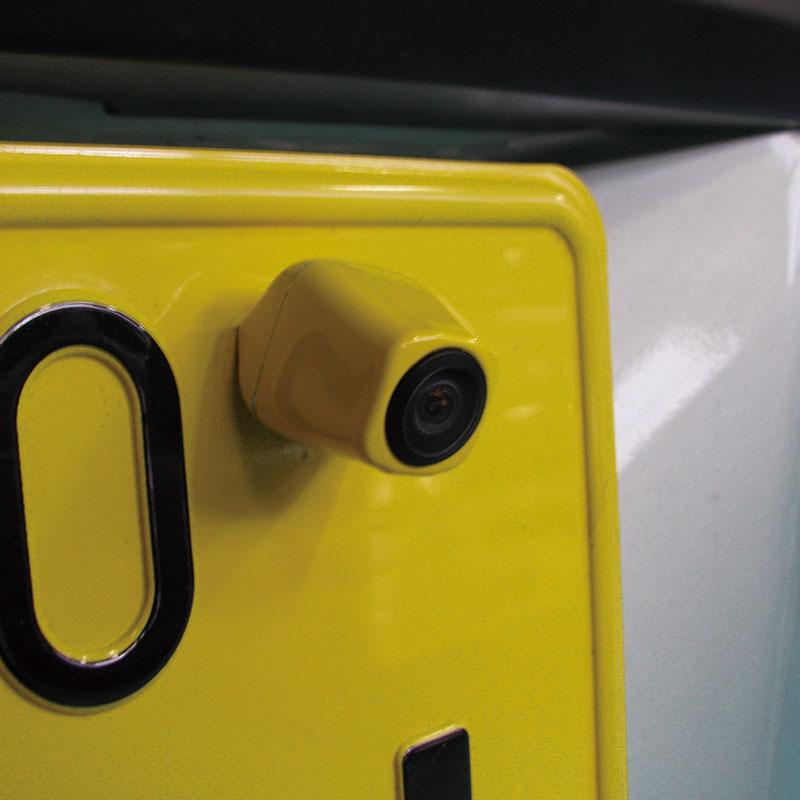 ナンバープレート穴取付 リアビューカメラ イエロー BCS-500WH [03801]