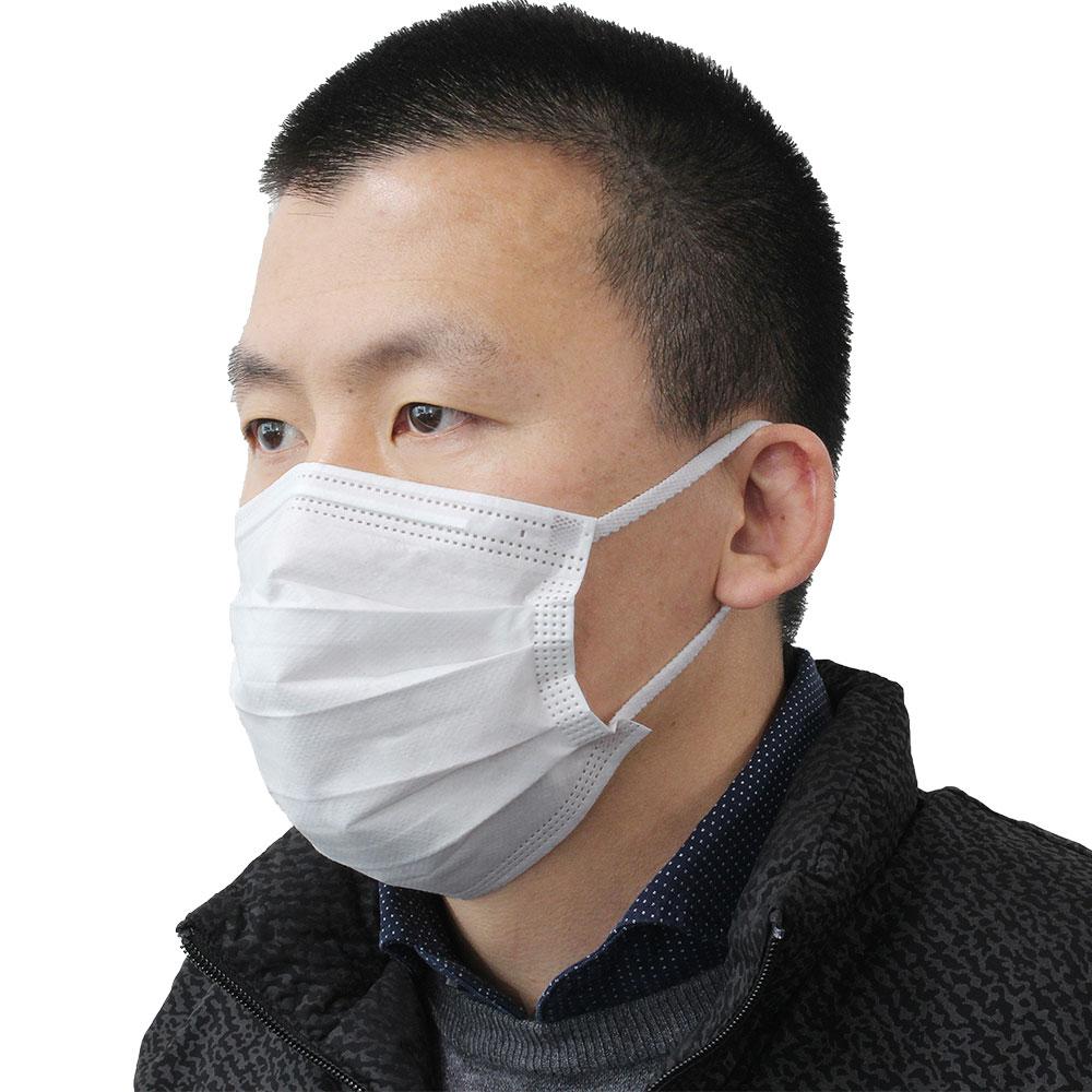 <まとめてお得>耳の痛くならないマスク(不織布) 200枚入 [62754]