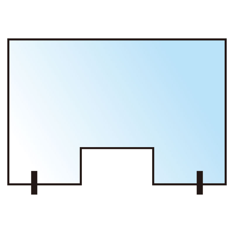 デスクウォール 3×900×600H  窓抜き300×150H [71095]