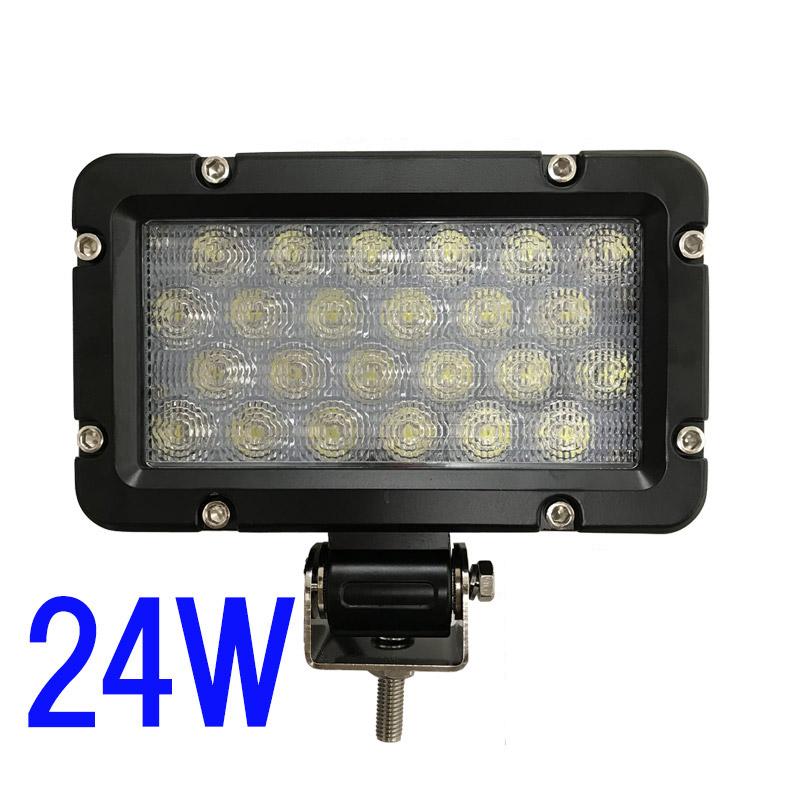24W LEDワークライト(拡散) 角型 長方形×2台セット [62629]