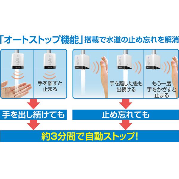 【3日間限定】蛇口直結型自動水栓 mizupita [76135]