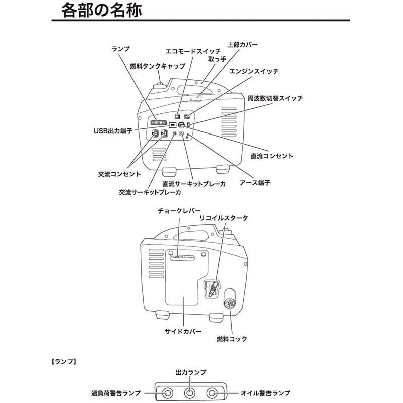 《NEW》インバーター発電機 1700[73569]