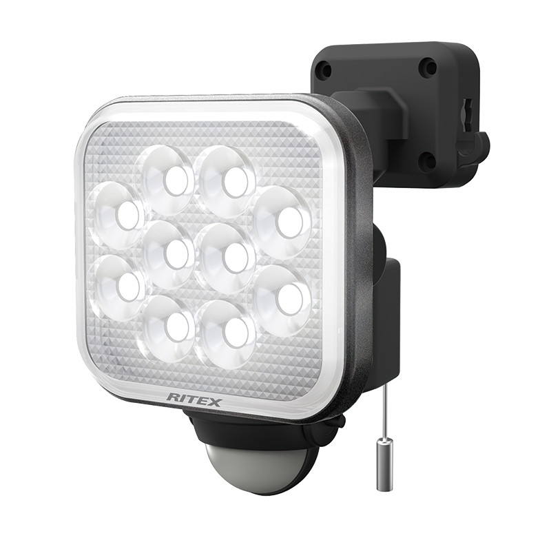 【RITEX】12W×1灯フリーアーム式LEDセンサーライト CAC12 [19459]