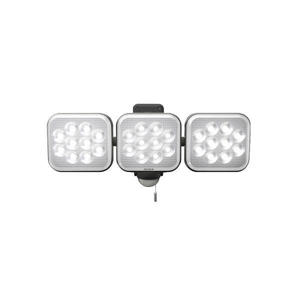 【RITEX】12W×3灯フリーアーム式LEDセンサーライト CAC36 [19461]