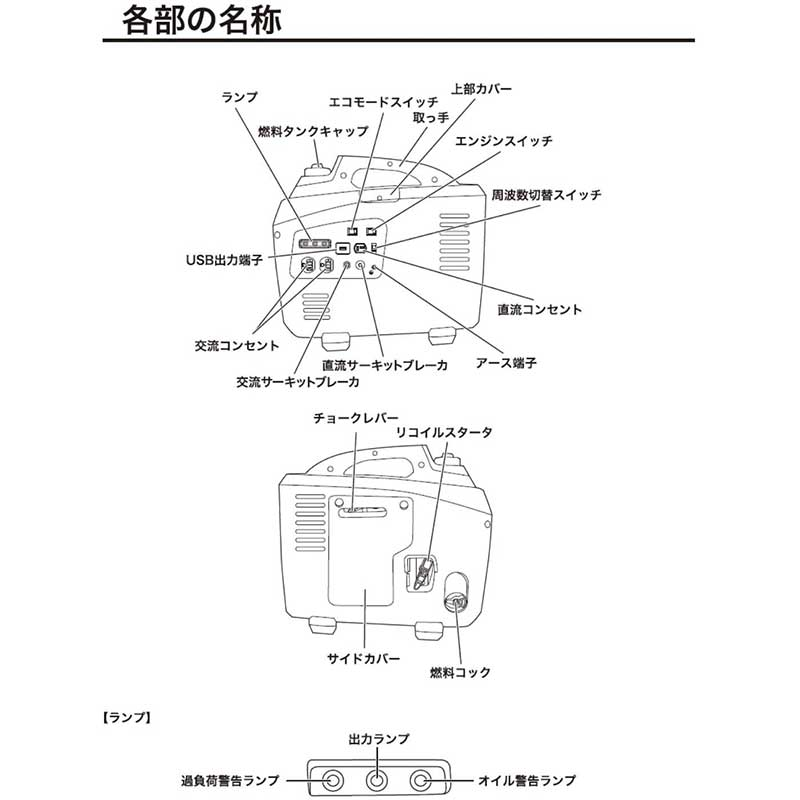 《NEW》【パオック】インバーター発電機 HT-1700[71073]