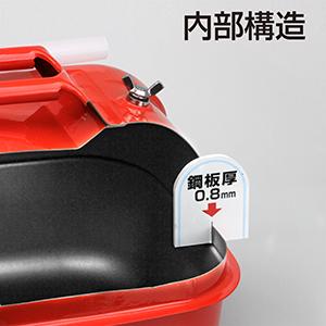 【大橋産業】ガソリン携行缶 20リットル 1653[46148]