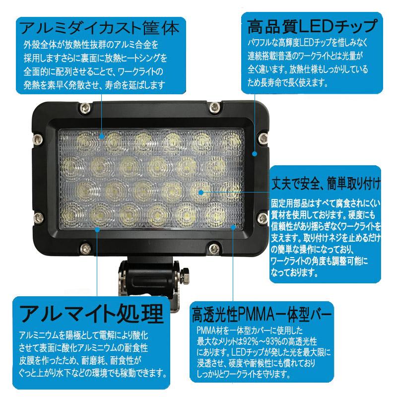 24W LEDワークライト(拡散) 角型 長方形 [71804]