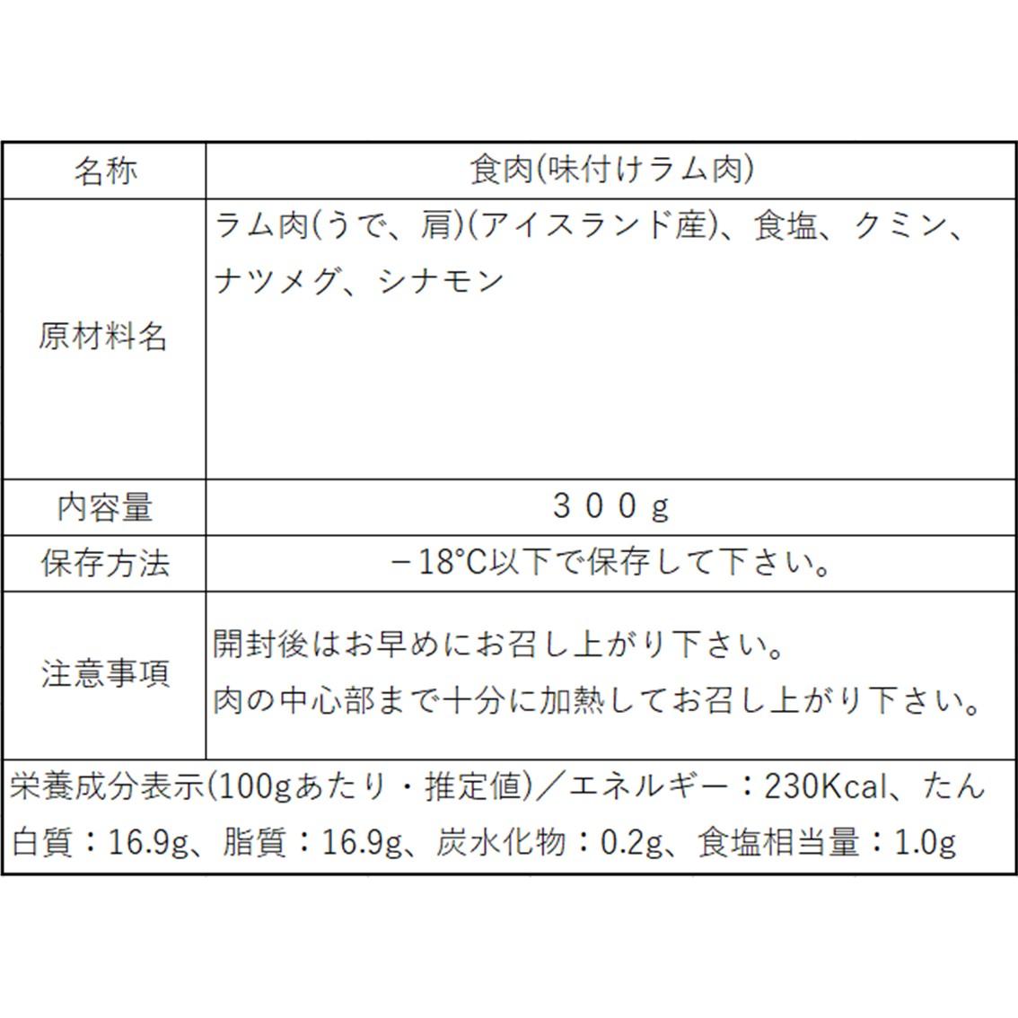 ラムハンバーグの素(ラム粗挽きミンチ) LUXE BURGERS監修特製スパイス配合【アイスランドラム】300g