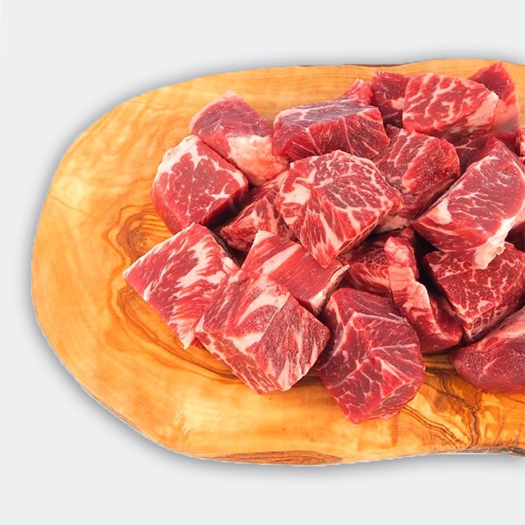 ◆送料無料◆【カナディアンビーフ】熟成赤身のおおぶりサイコロステーキ(約500g×2枚)/1kg