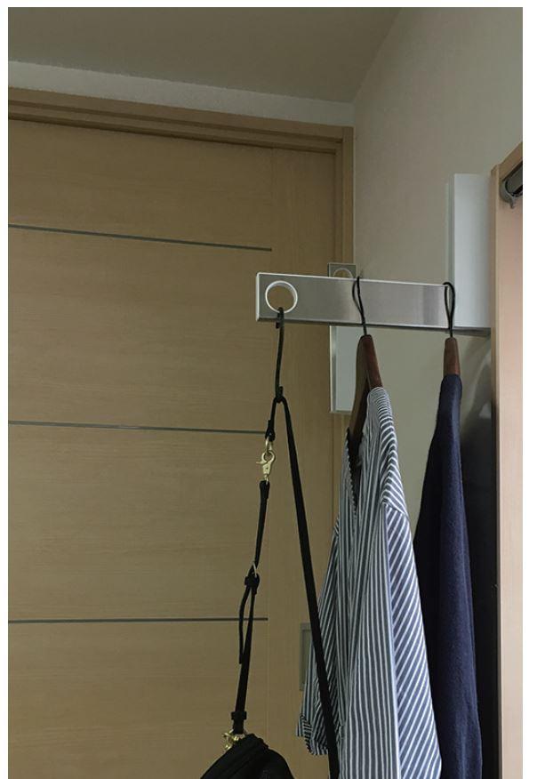 室内物干し 壁掛け シングル 最新タイプ ハンガーラック 折りたたみ可 ルームハンガーブラケット S 2本1組 長雨  新生活 DIY