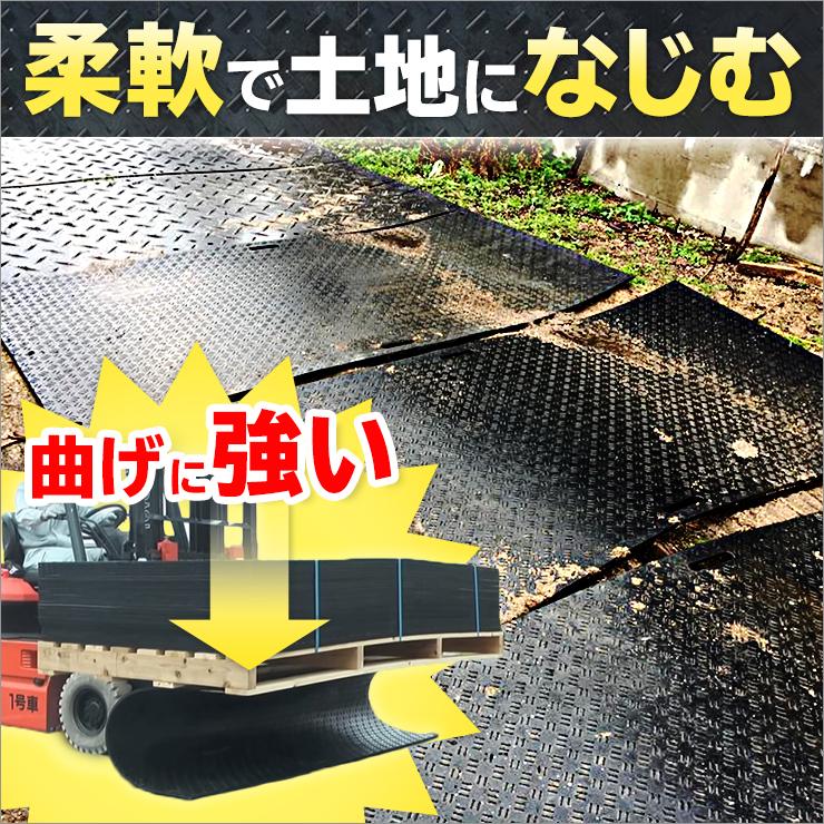 樹脂製敷板ディバン48 (1219mm×2438mm×板厚8mm+すべり止め5mm) 27kg 最大耐荷重1.5t ウッドプラスチック