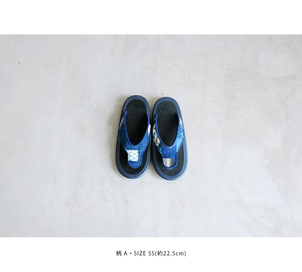 "JoJo × itten. (ジョジョ×イッテン)""BEACH SANDAL -Antique Natural indigo"""