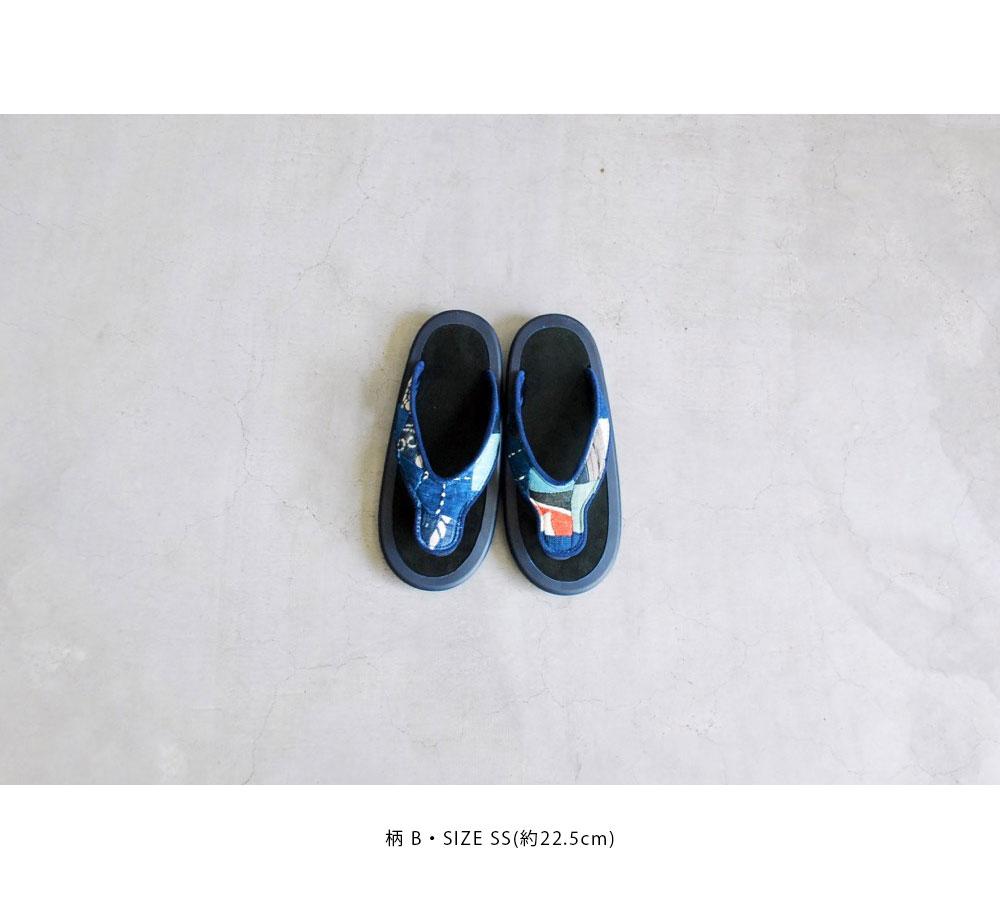"JoJo × itten. (ジョジョ×イッテン)""BEACH SANDAL -Antique Natural indigo"""