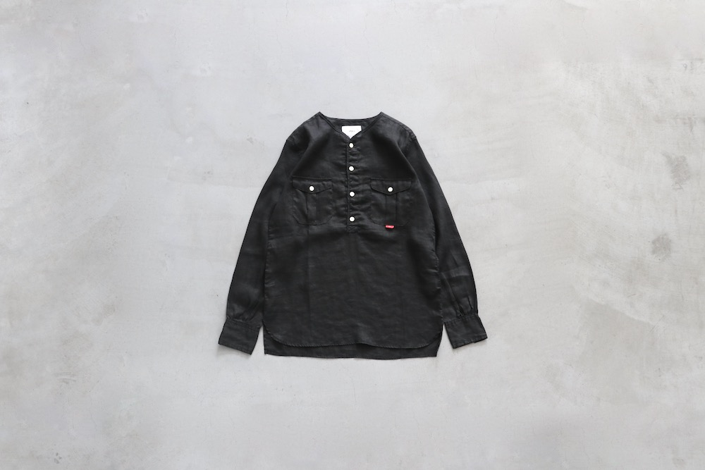 """itten.(イッテン) """"itten 10 No collar shirt -Linen-"""""""