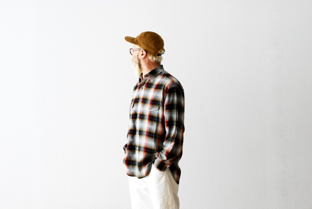 """[limited] SEVEN BY SEVEN × WONDER MOUNTAIN (セブンバイセブン × ワンダーマウンテン) """"TUCK SHIRTS  L/S - Multi color check -"""""""