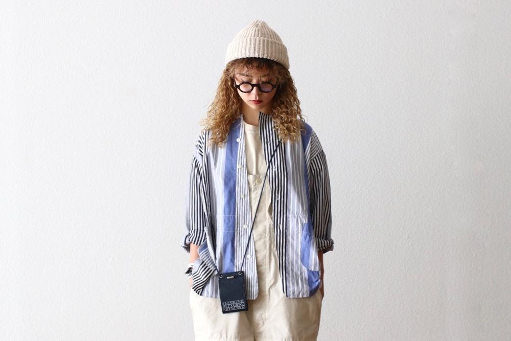 """[unisex]itten.(イッテン) """"itten 11 H jacket - Multi Stripe-"""""""
