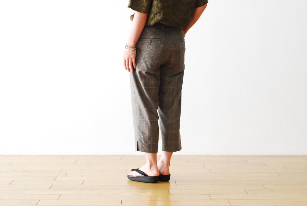"[20% > 40%OFF / WOMEN'S]ts(s) (ティーエスエス) ""Sabrina Pants - Stripe/Plaid Polyester*Rayon Stretch Cloth"""