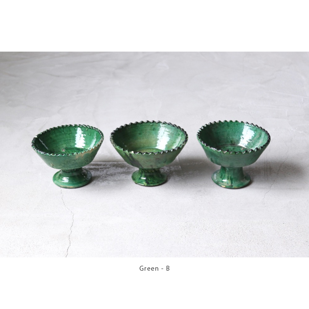 """[20%Off coupon対象]LIGHT YEARS(ライト イヤーズ) """"Morocco Pottery - COMPOTE DISH - M"""""""
