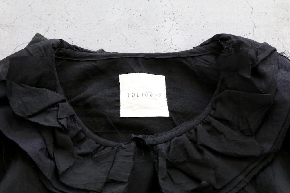 "[WOMEN'S]TOUJOURS(トゥジュー)""Ruffle Collar Shirt - SILK*COTTON TRIPLE YARN FAILLE CLOTH"""