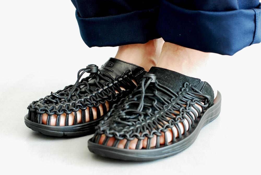 "【limited / UNISEX】 Engineered Garments × KEEN (エンジニアードガーメンツ × キーン) ""Uneek Premium Leather Slide"""