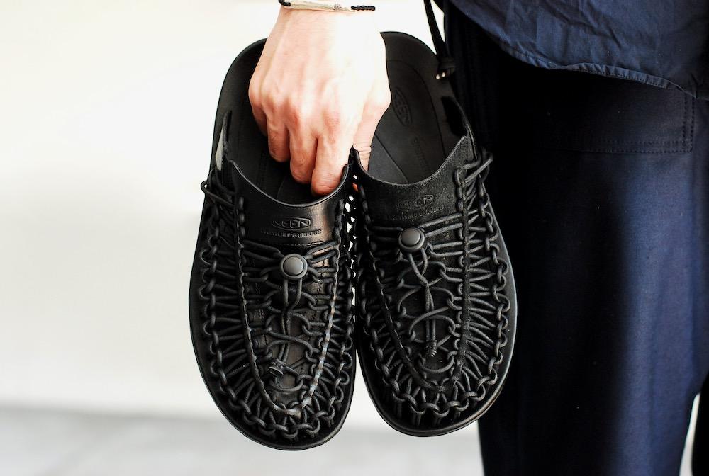 "[limited/UNISEX] Engineered Garments × KEEN (エンジニアードガーメンツ × キーン) ""Uneek Premium Leather Slide Slide"""