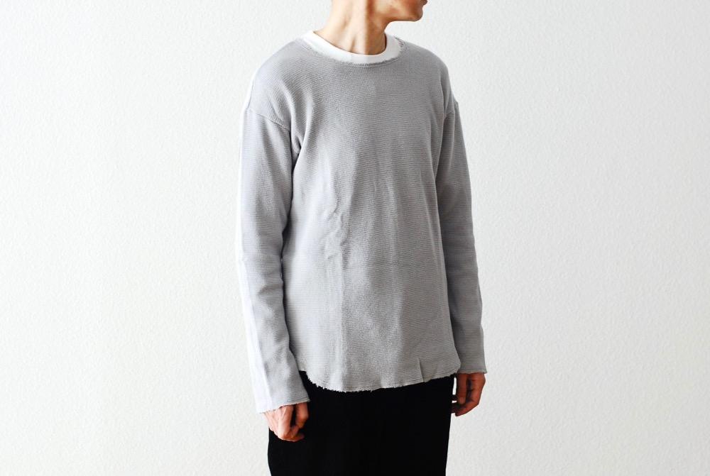 "[unisex]itten.(イッテン) ""JOHANNES Shirts -Cut Off Thermal-"""