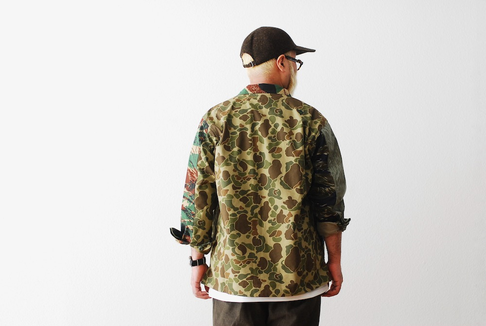 "South2 West8 (サウスツー ウェストエイト) ""Smokey Shirt - Crazy Camo"""