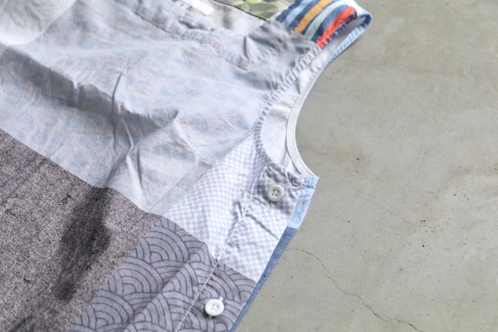 "[WOMEN'S]Engineered Garments (エンジニアードガーメンツ) ""Square Neck Dress -random square-"""
