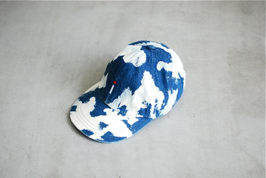 """itten.(イッテン) """"itten 10 """" i """" Logo Cap - Bleach Denim"""""""
